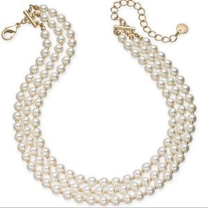 Charter Club Gold-tone Imitation Pearl Necklace